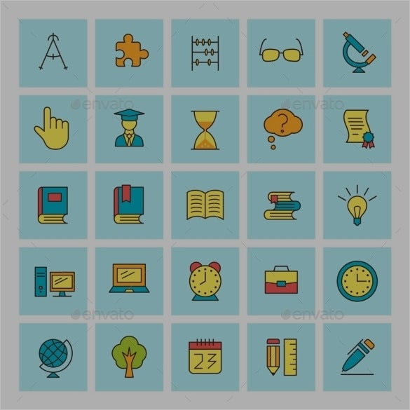 school app icons collection