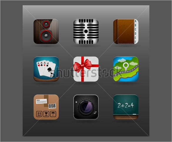creative set of app icons
