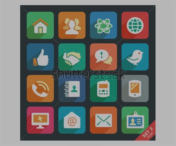 media flat app icons