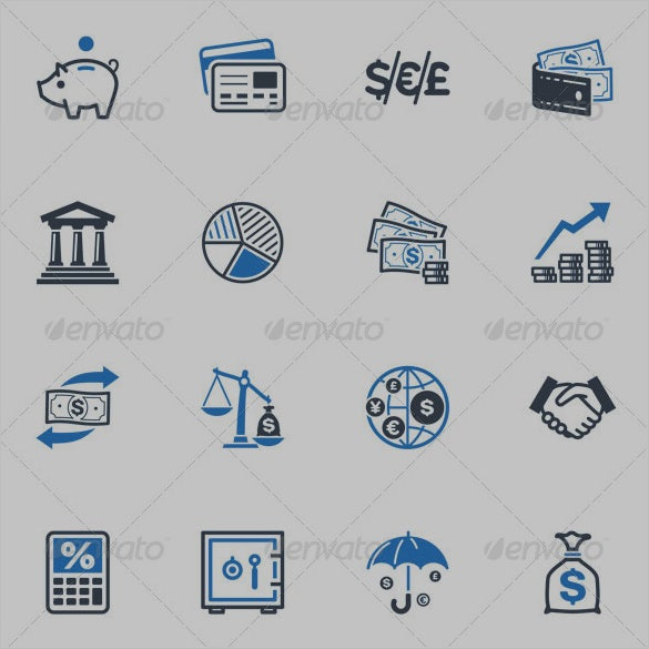 finance app icon collection
