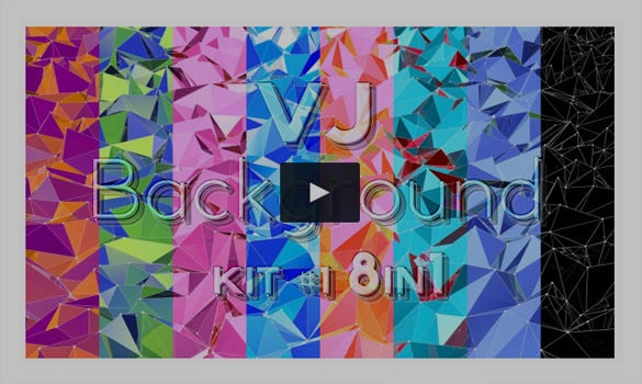 vj color polygon motion graphic video