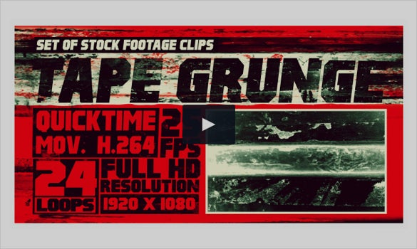 tape grunge motion graphic video