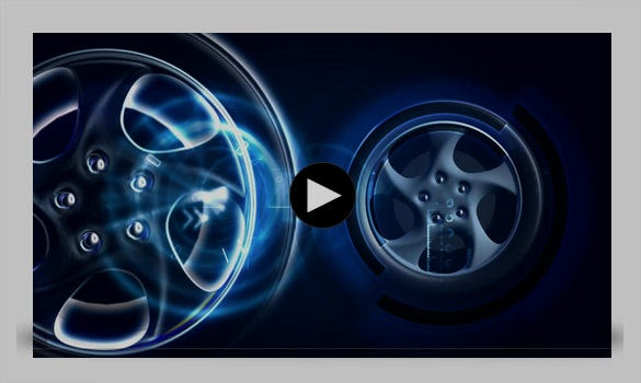 spinning alloy wheels motion graphics