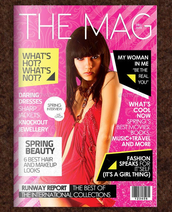 amazing premium fashion magazine cover template