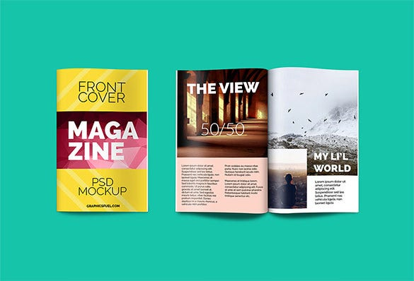 free magazine psd mockup for you