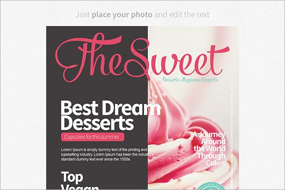 awesome premium magazine cover template