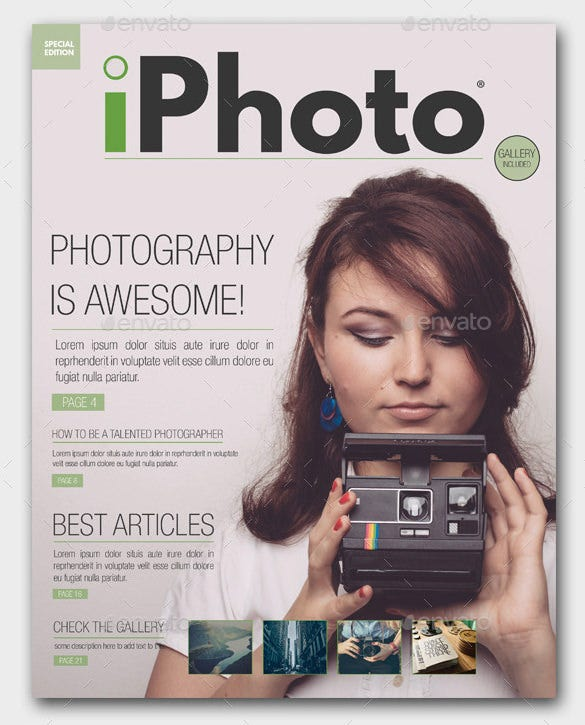 premium photography magazine cover template