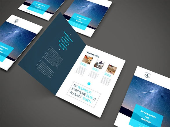 a4 psd free magazine cover template