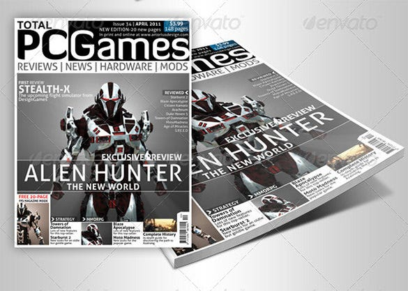 premium advanced magazine cover template