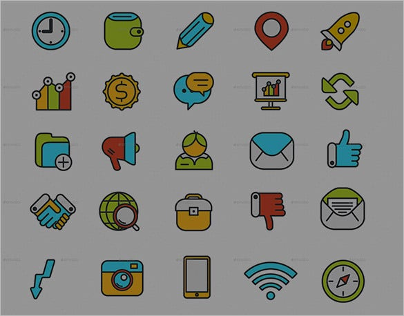 download set of business icons