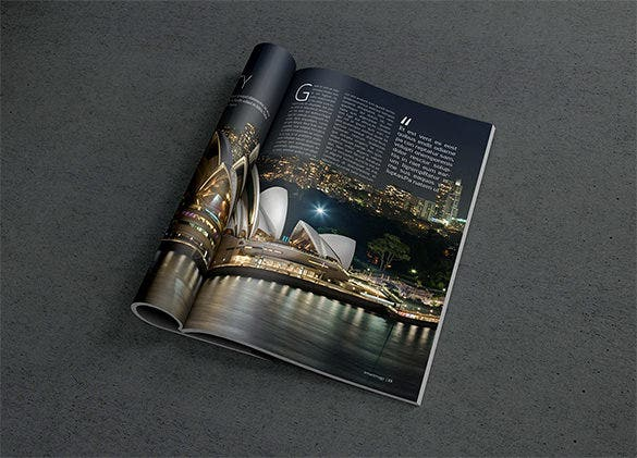 photorealistic magazine mockup psd cover template