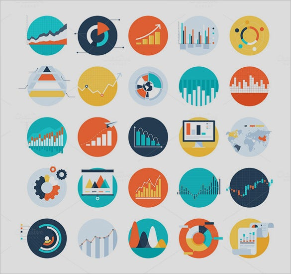 amazing business charts icons