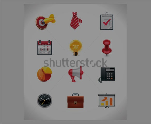 download vector business icon collection