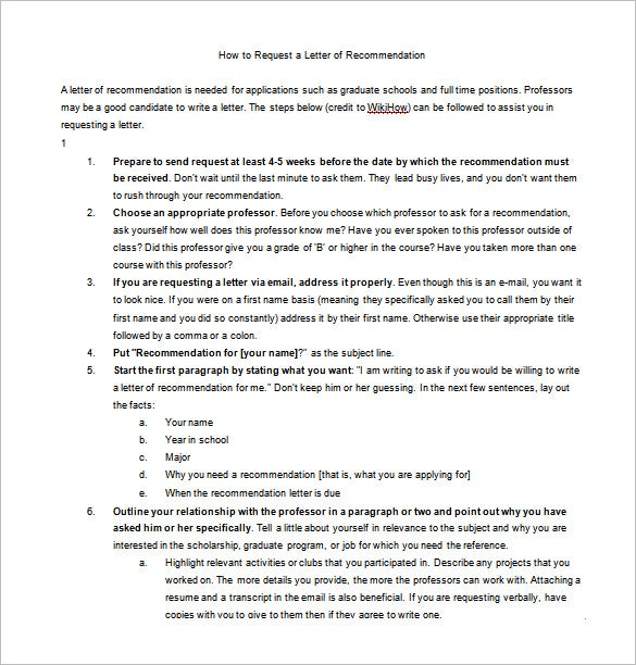 Letters of recommendation 25 free word excel pdf format how to ask for a letter of recommendation word free download spiritdancerdesigns Images