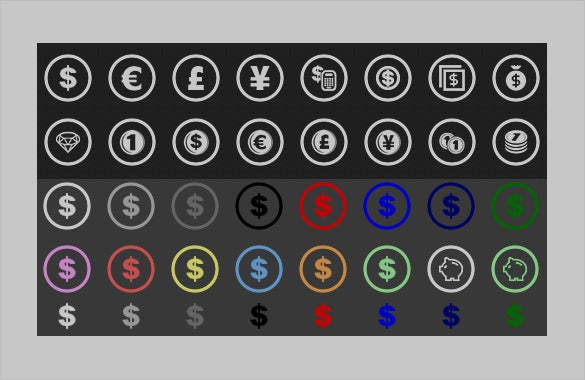 business toolbar icon collection