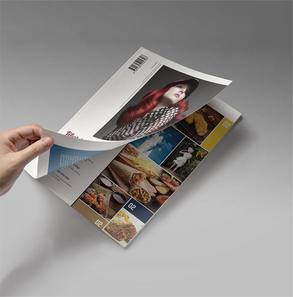 indesign premium magazine cover template