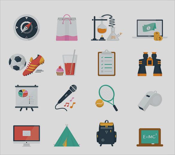 amazing business flat icons