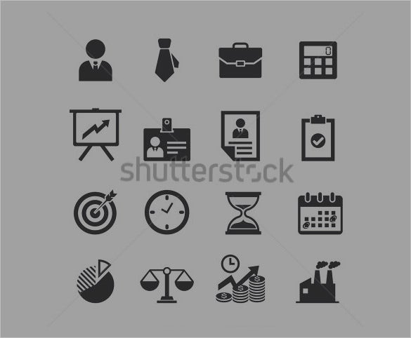 collection of business icons to download