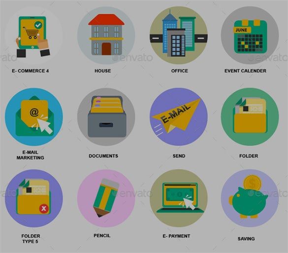latest business icons set