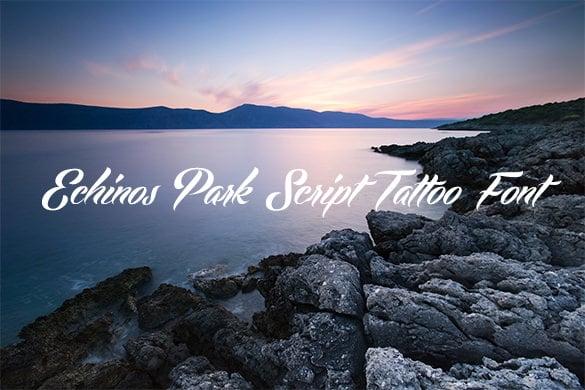 echinos park script tattoo lettering font