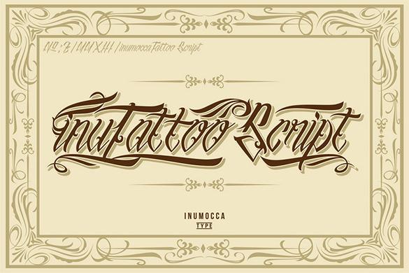 inutattoo sricpt font free download