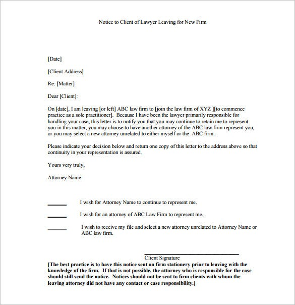 Notice letter template 23 free word excel pdf format for Party wall letter template