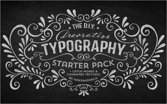 decorative typography
