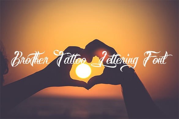 brother tattoo lettering font for free