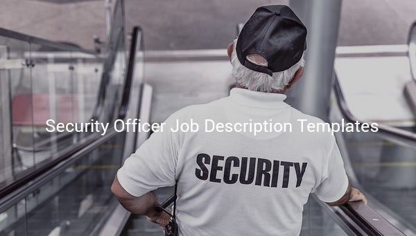 security officer job description templates