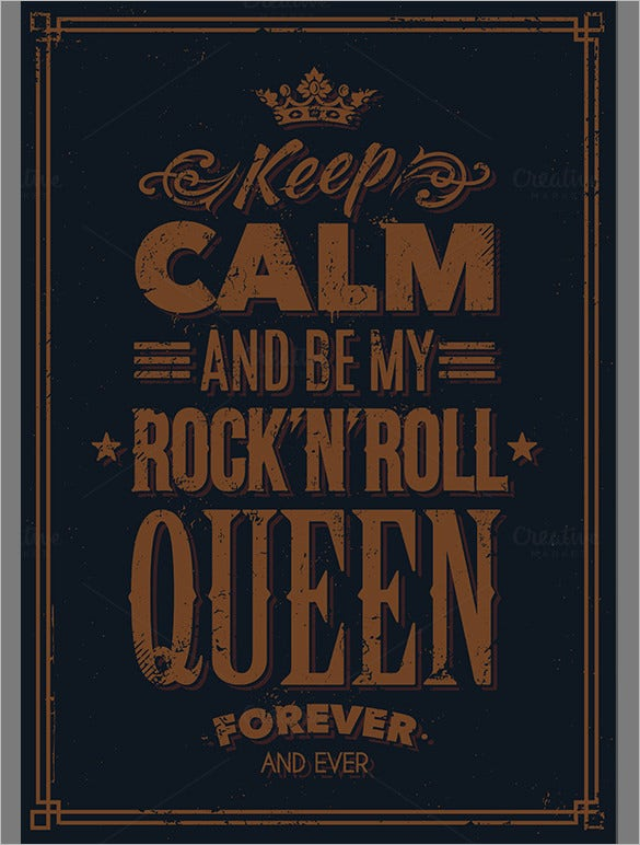 queen typography