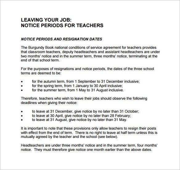 leaving notice period pdf free download