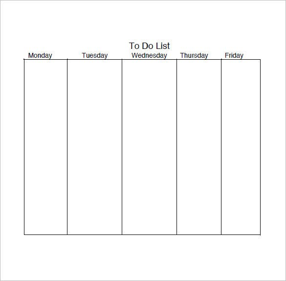 Daily Task List Templates   Free Sample Example Format