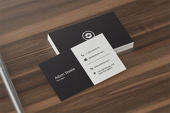 premium minimal business card design