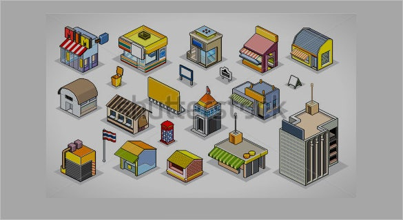 download buildings pixels art