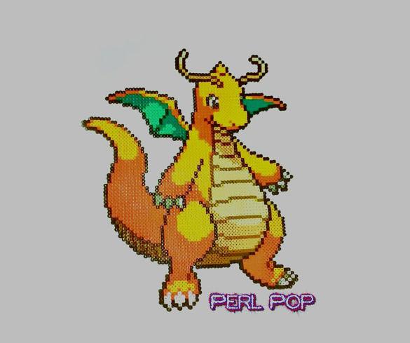 dragonite pixel art