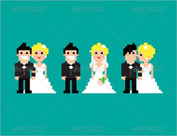 wedding pixel art