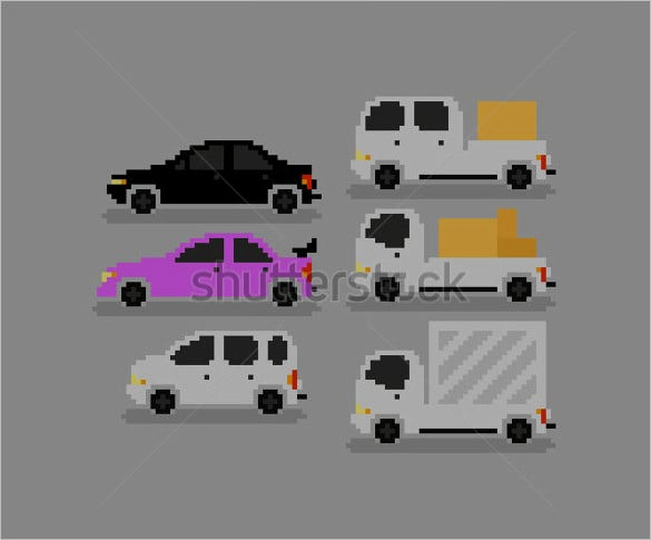 cars pixel art