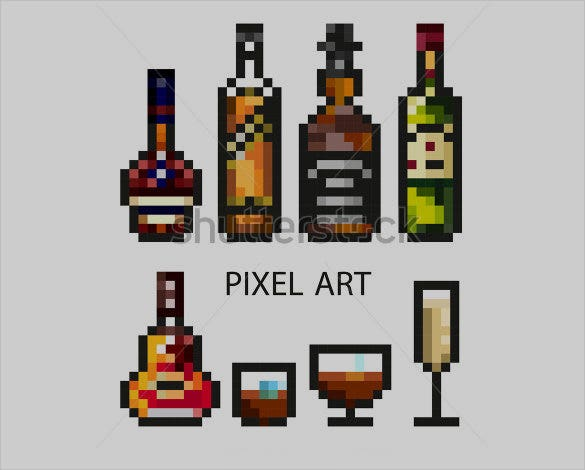 alcohol pixel art