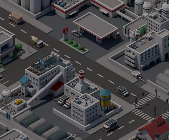 mini city pixel art
