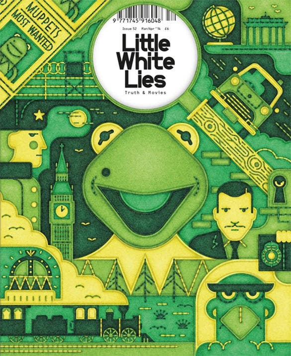 little white lies magazine civer design
