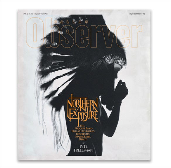 pallas observer magazine cover design