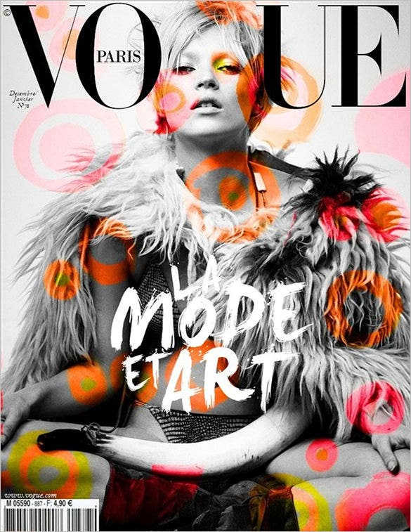vogue paris magazine cover design