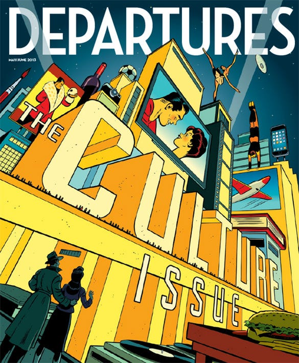 departures magazine cover design