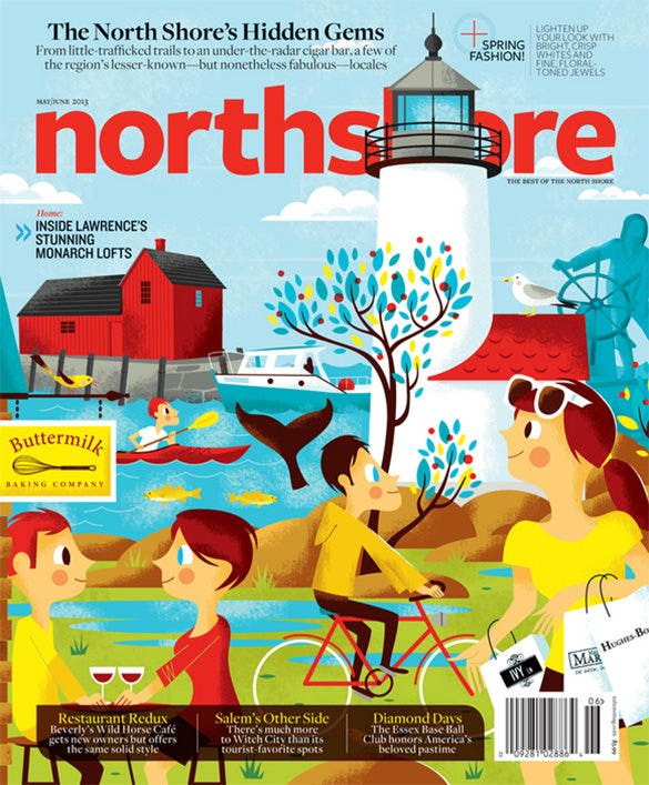 the northshore magazing cover design