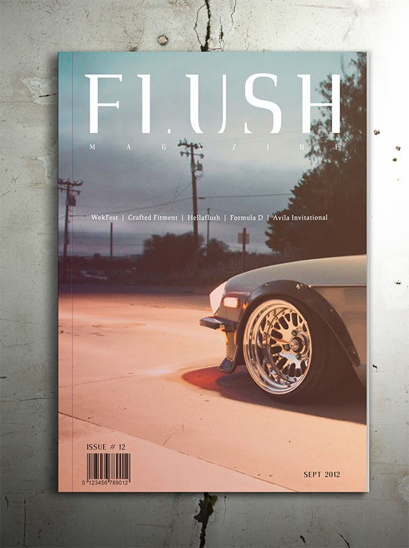 flush magazine cover design
