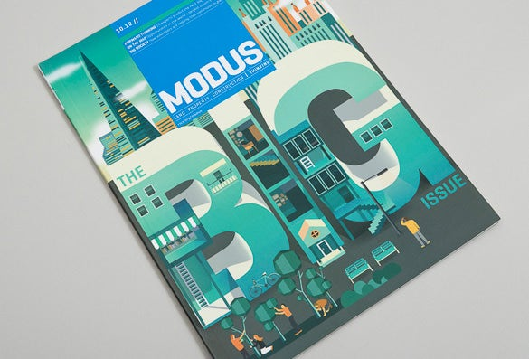 modus magazine cover design