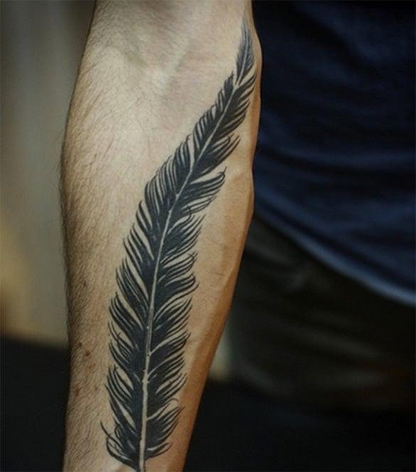 creative feather tattoo