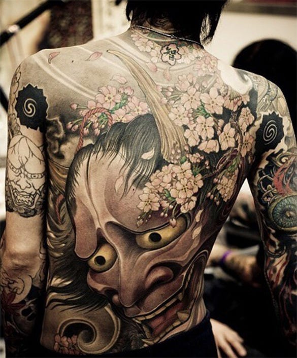 artistic tattoo design on back