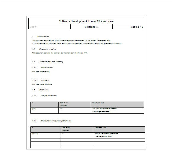 Software Development Project Plan Word Template