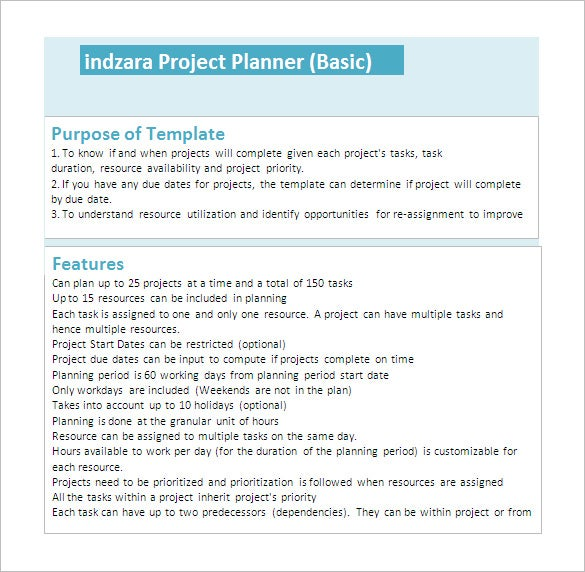 23 project plan template doc excel pdf free premium templates. Black Bedroom Furniture Sets. Home Design Ideas